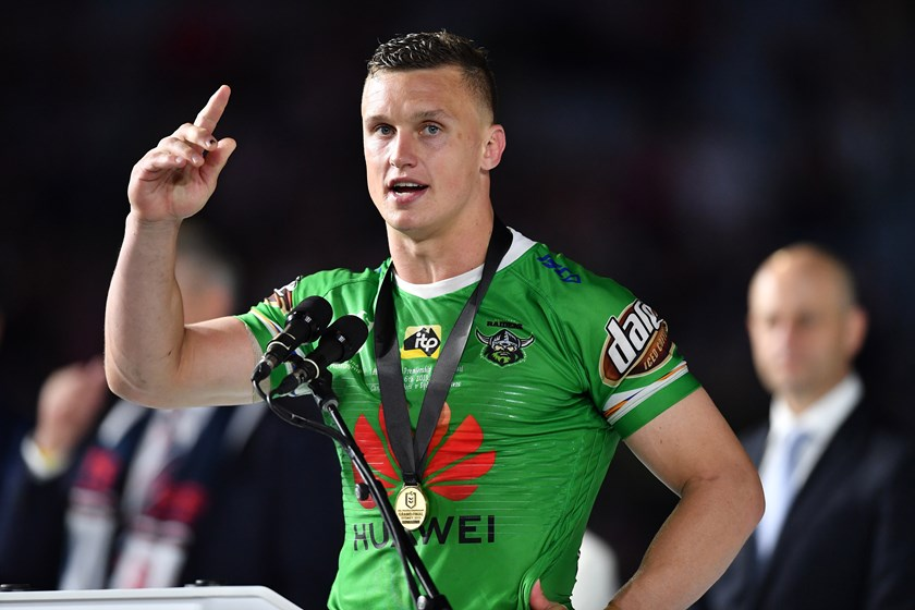 Wighton received the Clive Churchill Medal in the 2019 Grand Final