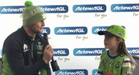 ActewAGL competition winner Lily interviews Croker