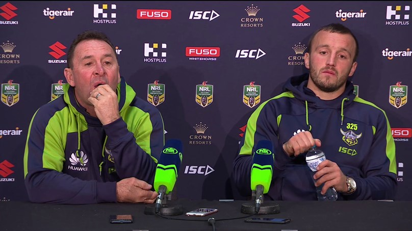 Raiders press conference – Round 20