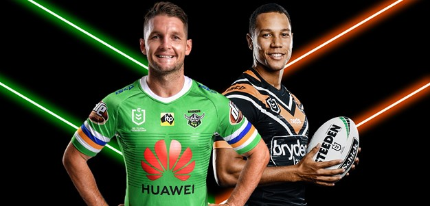Raiders v Wests Tigers - Round 18