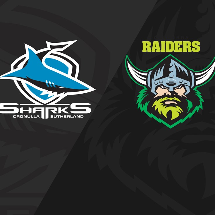 Full Match Replay: Sharks v Raiders - Round 24, 2019
