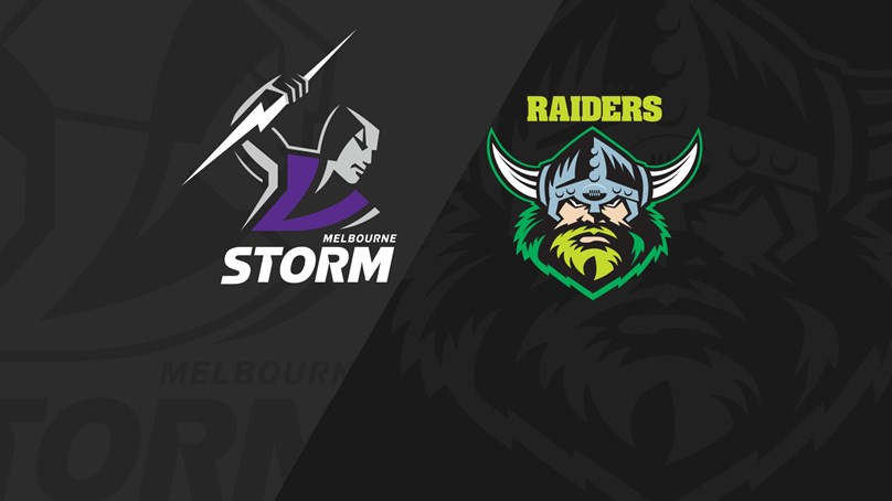 Full Match Replay: Storm v Raiders - Finals Week 1, 2019