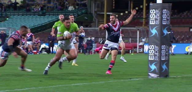 Papalii cruises over as Roosters defence left wanting