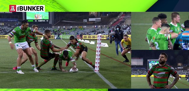 Semi Valemei gets his first try in the NRL