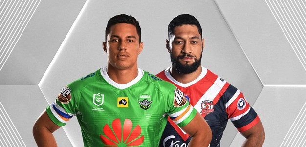 Raiders v Roosters - Round 17