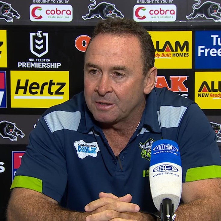 Press Conference: Raiders v Panthers