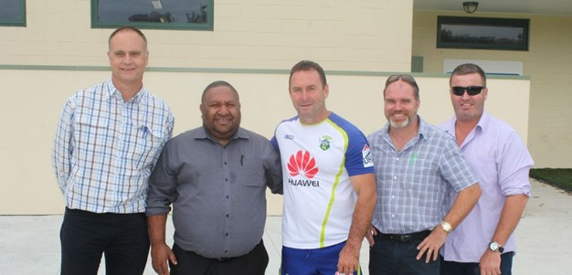 Visit from PNGRL Chairman sparks potential partnership with Raiders