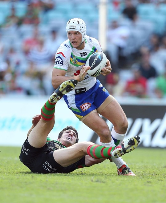 Digital Image by Robb Cox ©nrlphotos.com: Jarrod Croker :NRL Rugby League - Round 4; South Sydney Rabbitohs Vs Canberra Raiders at ANZ Stadium, Sunday the 30th of March 2014.