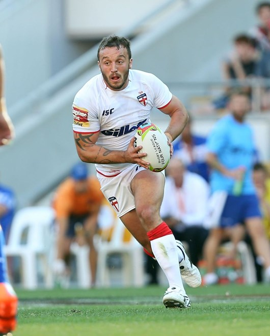 Digital Pic by: Robb Cox © NRL Photos : Josh Hodgson : Representative Rugby League, England V Samoa, 4 Nations Tournament, Game 1, 25th October 2014, Brisbane.