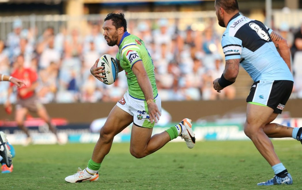 Digital Image by Grant Trouvile © NRLphotos : Game Action   : 2015 NRL Round 1 - Cronulla Sharks v Canberra Raiders at REMONDIS Stadium, Sunday March 8th 2015.