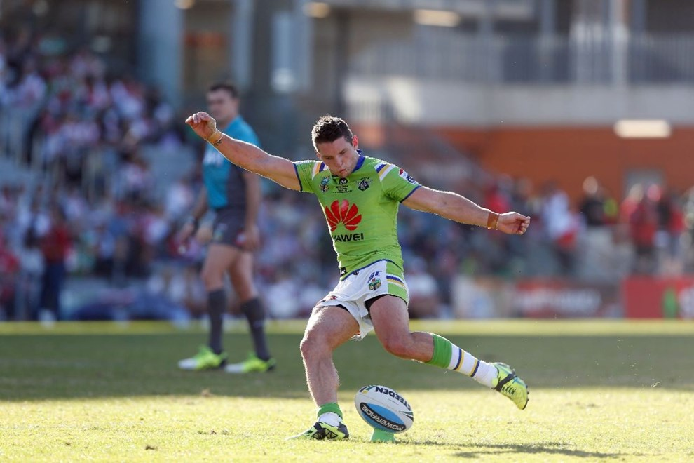 Jarrod Croker : Image by Robb Cox ©nrlphotos.com: :NRL Rugby League - St George Illawarra Dragons V Canberra Raiders at WIN Stadium, Sunday May 17th 2015.