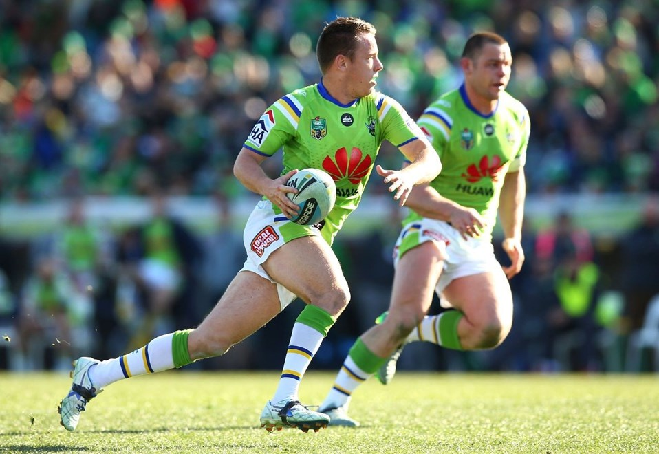 Sam Williams of the Raiders during the Round 23 NRL match between the Canberra Raiders and the Manly Warringah Sea Eagles at GIO Stadium on August 16, 2015 in Canberra, Australia. Digital Image by Mark Nolan.