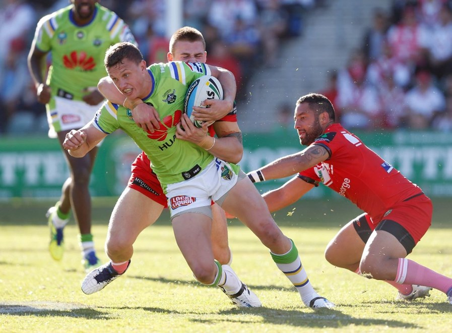 Jack Wighton : Image by Robb Cox ©nrlphotos.com: :NRL Rugby League - St George Illawarra Dragons V Canberra Raiders at WIN Stadium, Sunday May 17th 2015.