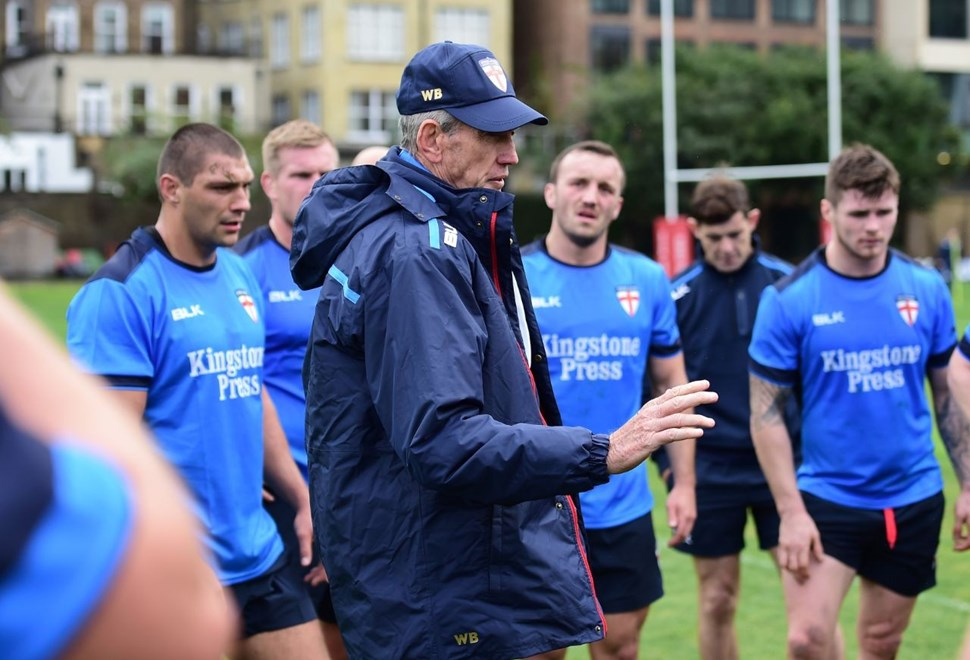 Picture by Alex Broadway/SWpix.com - 16/10/2016 - Rugby League - England Rugby League Training Session - HAC, London, United Kingdom - Wayne Bennett.