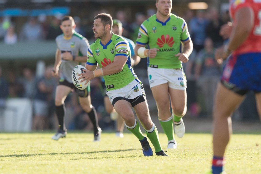 Canberra Raiders vs Newcastle Knights trial NRL match at Seiffert Oval