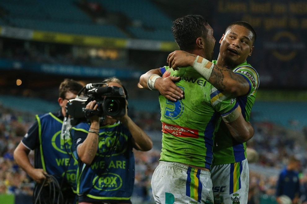 Competition - NRL. Round - Round 11. Teams - Parramatta Eels v Canberra Raiders. Date - 20th of May 2017. Venue - ANZ Stadium