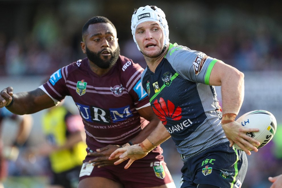 Competition - NRL. Round - Round 13. Teams - Manly Warringah Sea Eagles v Canberra Raiders. Date - 4th of June 2017. Venue - Lottoland