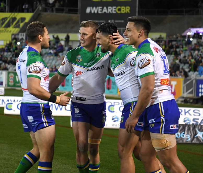 R25 NRL- Canberra Raiders vs Newcastle Knights at GIO Stadium . Picture : NRL Photos/Gregg Porteous