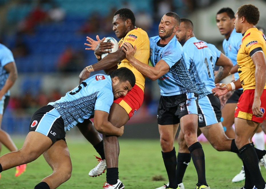 Fiji Bati v PNG :Digital Image Grant Trouville © NRLphotos  : 2015 NRL REP Round - PACIFIC TEST MATCHs at CBUS Super Stadium Gold Coast Saturday MAY 2nd  2015.