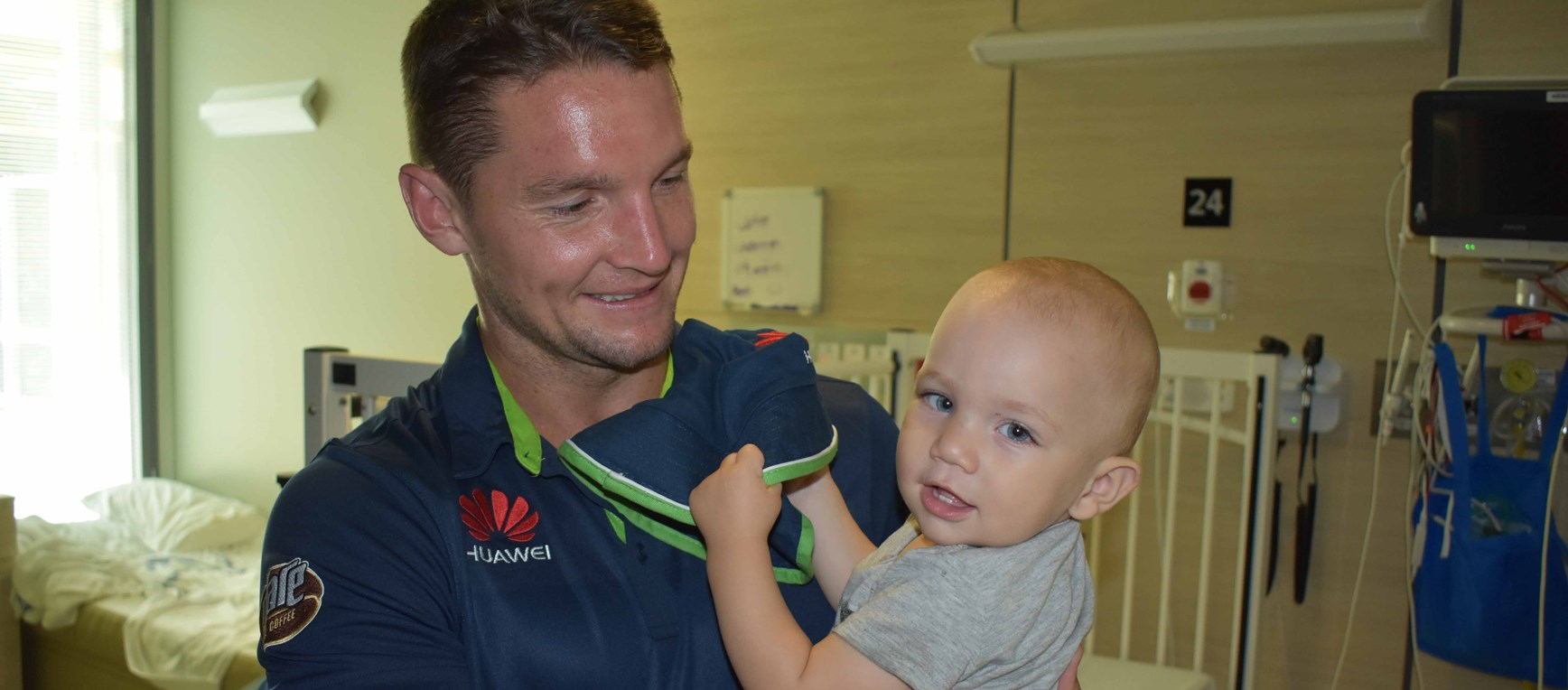 Gallery: Raiders visit Sunshine Coast Hospital