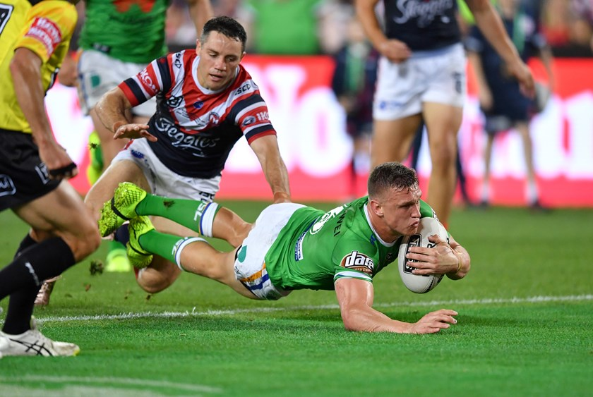 Jack Wighton scores a try in the 2019 Grand Final