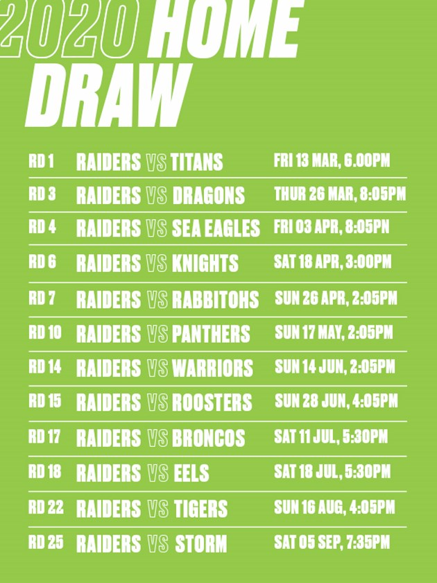 Raiders Schedule 2020.Blockbuster Home Game Schedule For Raiders In 2020 Raiders