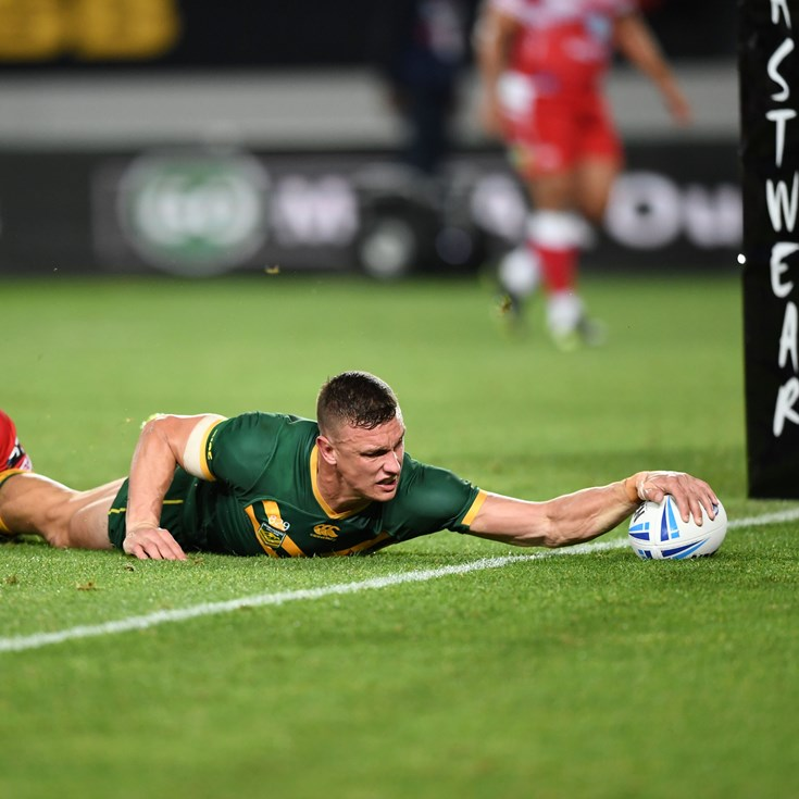 Wighton scores first try for Australia