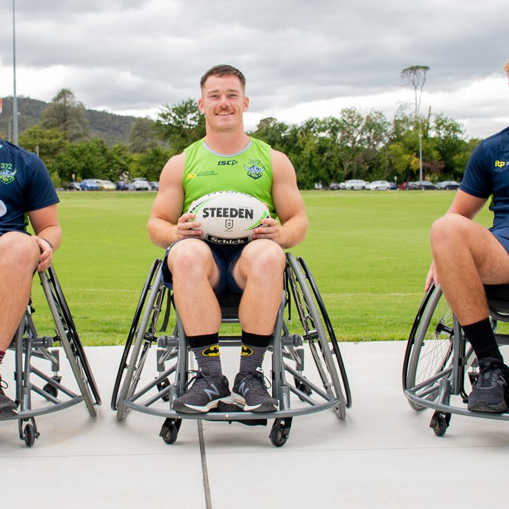 Raiders Ambassadors support Wheelchair Rugby League