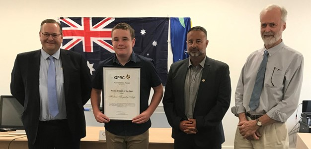Huddy receives Bungendore Young Citizen of the Year award