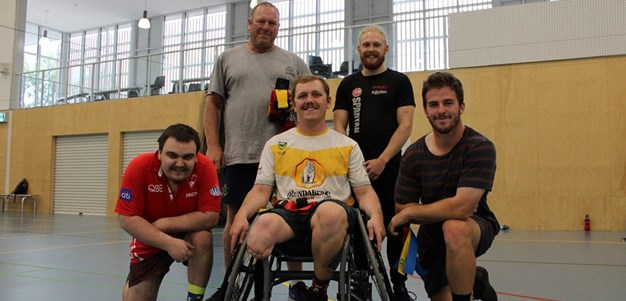 Wagga Wheelchair Basketballers enjoy rugby league opportunity