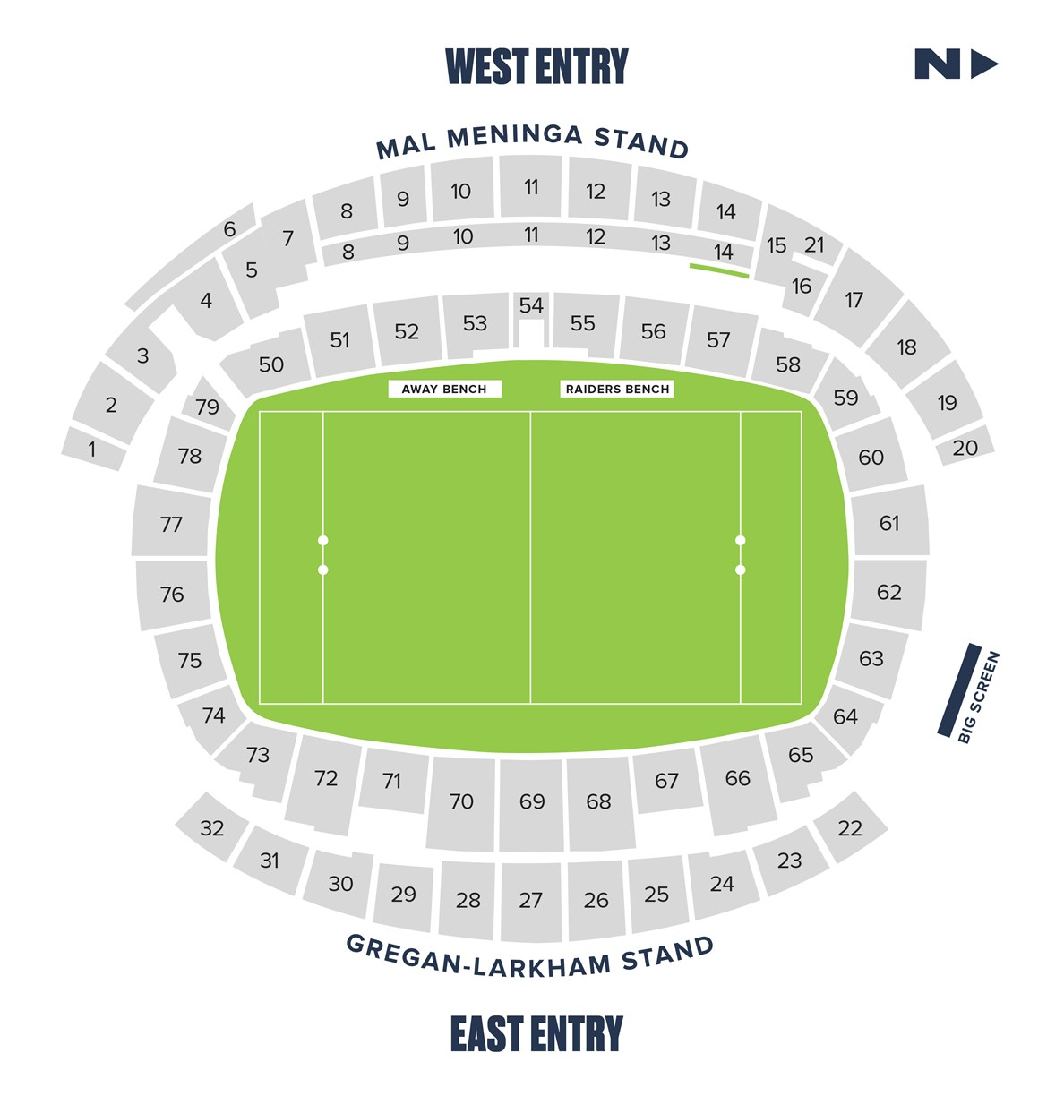 Club 82 seating map