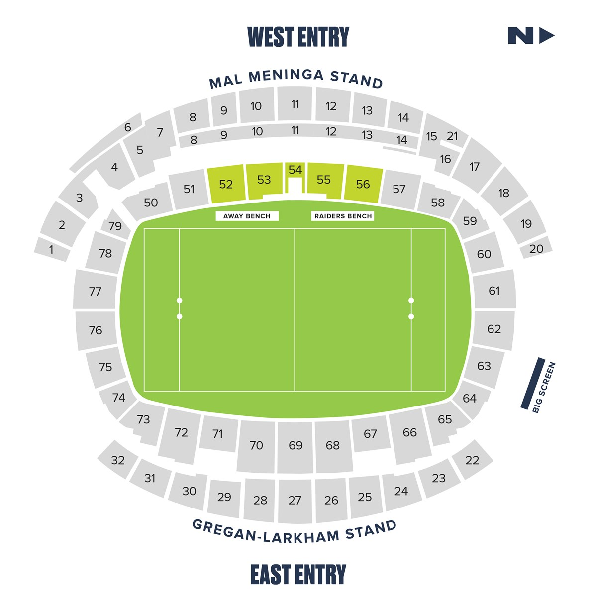 Gold Inner Bowl seating map